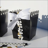 Black & Gold Favor Popcorn Boxes - Jaclyn Peters Designs - 4