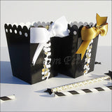 Black & Gold Favor Popcorn Boxes - Jaclyn Peters Designs - 5