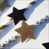 Black & Gold Star Party Straws - Jaclyn Peters Designs - 4