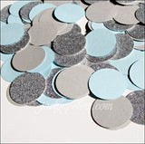 Baby Blue, Grey And Silver Glitter Party Confetti
