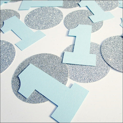 Boy's First Birthday Party Confetti - Jaclyn Peters Designs - 1