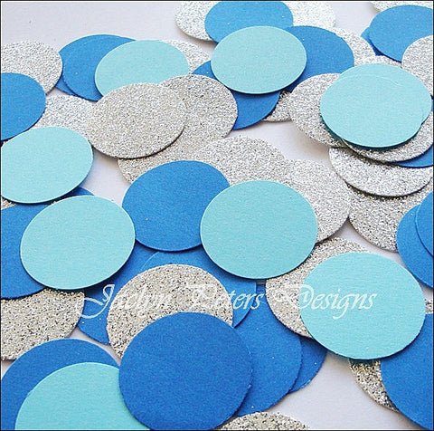 Royal, Aqua & Silver Party Confetti - Jaclyn Peters Designs - 1