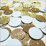 Party Confetti Baby Blue & Gold Glitter - Jaclyn Peters Designs - 1