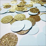 Party Confetti Baby Blue & Gold Glitter - Jaclyn Peters Designs - 2