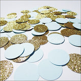 Party Confetti Baby Blue & Gold Glitter - Jaclyn Peters Designs - 3