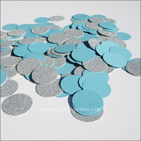 Winter Blue & Silver Glitter Confetti - Jaclyn Peters Designs - 1