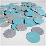 Winter Blue & Silver Glitter Confetti - Jaclyn Peters Designs - 2