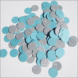 Winter Blue & Silver Glitter Confetti - Jaclyn Peters Designs - 3
