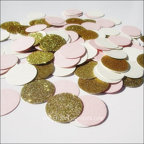 Blush Pink, Ivory & Gold Confetti - Jaclyn Peters Designs - 1
