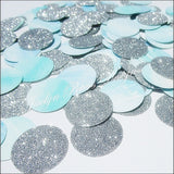 Blue Watercolor & Silver Confetti - Jaclyn Peters Designs - 2