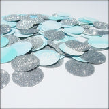 Blue Watercolor & Silver Confetti - Jaclyn Peters Designs - 1
