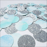 Blue Watercolor & Silver Confetti - Jaclyn Peters Designs - 3