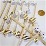 Gold Bow Party Swizzle Sticks - Jaclyn Peters Designs - 2