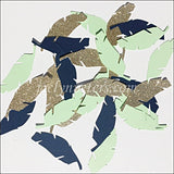 Boys Tribal Feather Confetti In Gold Glitter, Navy And Mint