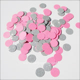 Bubble Gum Pink & Silver Glitter Confetti - Jaclyn Peters Designs - 3