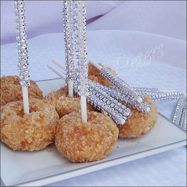 Silver Rhinestone Cake Pop Sticks - Jaclyn Peters Designs - 1