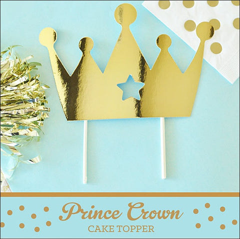 Royal Prince Gold Cake Topper - Jaclyn Peters Designs - 1