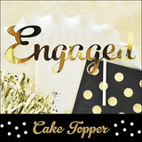 Engagement Party Gold Cake Topper - Jaclyn Peters Designs - 2