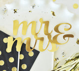 Mr & Mrs Gold Wedding Cake Topper - Jaclyn Peters Designs - 2