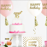 Sweet 16 Gold Cake Topper - Jaclyn Peters Designs - 2