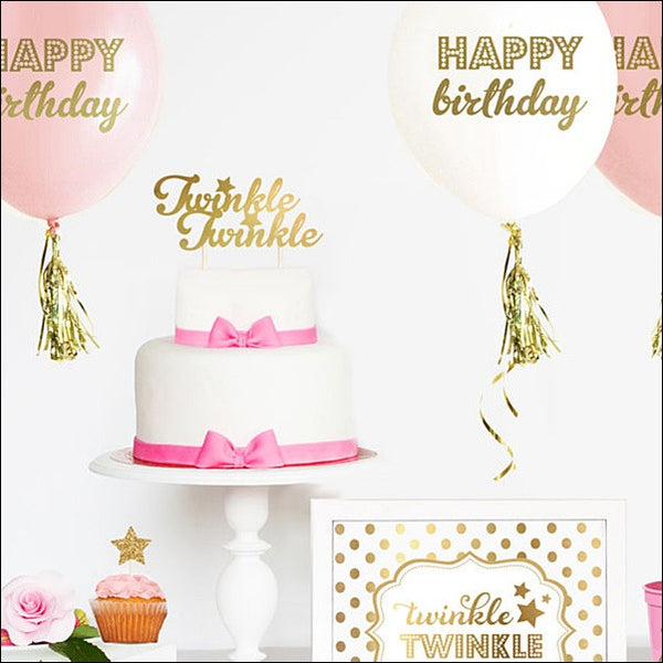 Twinkle Twinkle Little Star Cake Topper - Jaclyn Peters Designs - 1