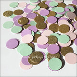 Pastels With Gold Glitter Party Confetti