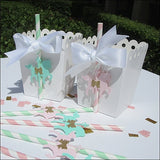 Vintage Baby Carousel Horse Party Straws - Jaclyn Peters Designs - 3