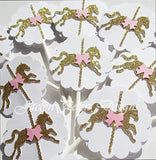 Carousel Birthday Party Cupcake Toppers - Jaclyn Peters Designs - 2