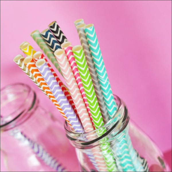 Chevron Party Straws - Jaclyn Peters Designs - 1