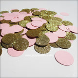 Blush Pink & Gold Glitter Confetti - Jaclyn Peters Designs - 2