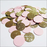 Blush Pink & Gold Glitter Confetti - Jaclyn Peters Designs - 3