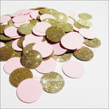 Blush Pink & Gold Glitter Confetti - Jaclyn Peters Designs - 4
