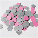 Dark Pink, Grey & Silver Party Confetti