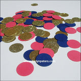 Coral, Navy & Gold Confetti - Jaclyn Peters Designs - 2