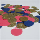 Coral, Navy & Gold Confetti - Jaclyn Peters Designs - 3
