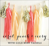 Coral, Peach & Ivory Party Garland Kit - Jaclyn Peters Designs - 1