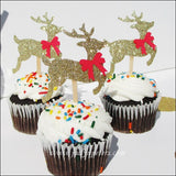 Christmas Reindeer Cupcake Toppers - Jaclyn Peters Designs - 3