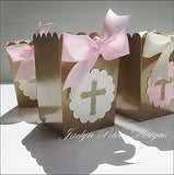 Pink & Gold Cross Communion Party Favors - Jaclyn Peters Designs - 1
