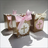 Pink & Gold Cross Communion Party Favors - Jaclyn Peters Designs - 3
