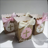 Pink & Gold Cross Communion Party Favors - Jaclyn Peters Designs - 4