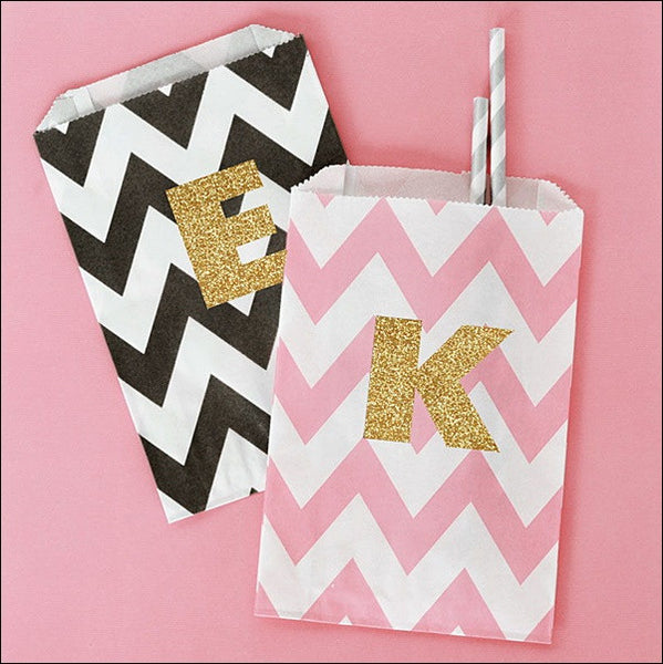 Personalized Glitter Party Bags Set Of 24 - Jaclyn Peters Designs - 1