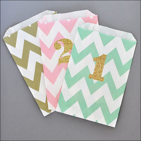 Glitter Birthday Number Party Bags Set Of 24 - Jaclyn Peters Designs - 2