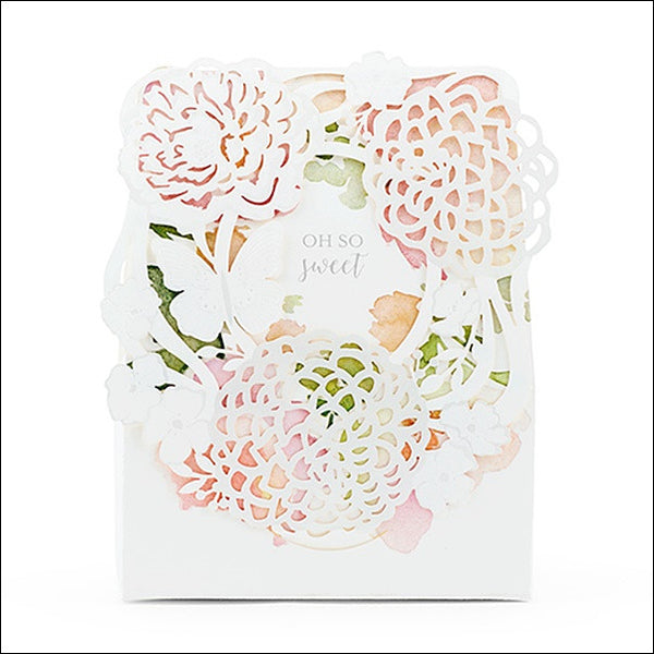 Watercolor Floral Garden Tent Style Favor Box Set Of 10