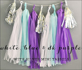 Frozen Purple & Blue Party Garland Kit - Jaclyn Peters Designs - 1