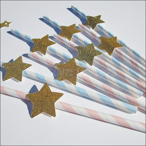 Gender Reveal Star Party Straws - Jaclyn Peters Designs - 1