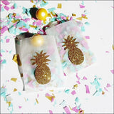 Gold Pineapple Glassine Candy Bags - Jaclyn Peters Designs - 1