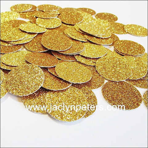 Gold Glitter Party Confetti - Jaclyn Peters Designs - 1