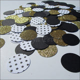 Black & Gold Glitter Confetti - Jaclyn Peters Designs - 3