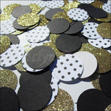 Black & Gold Glitter Confetti - Jaclyn Peters Designs - 2
