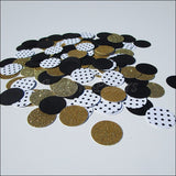 Black & Gold Glitter Confetti - Jaclyn Peters Designs - 1